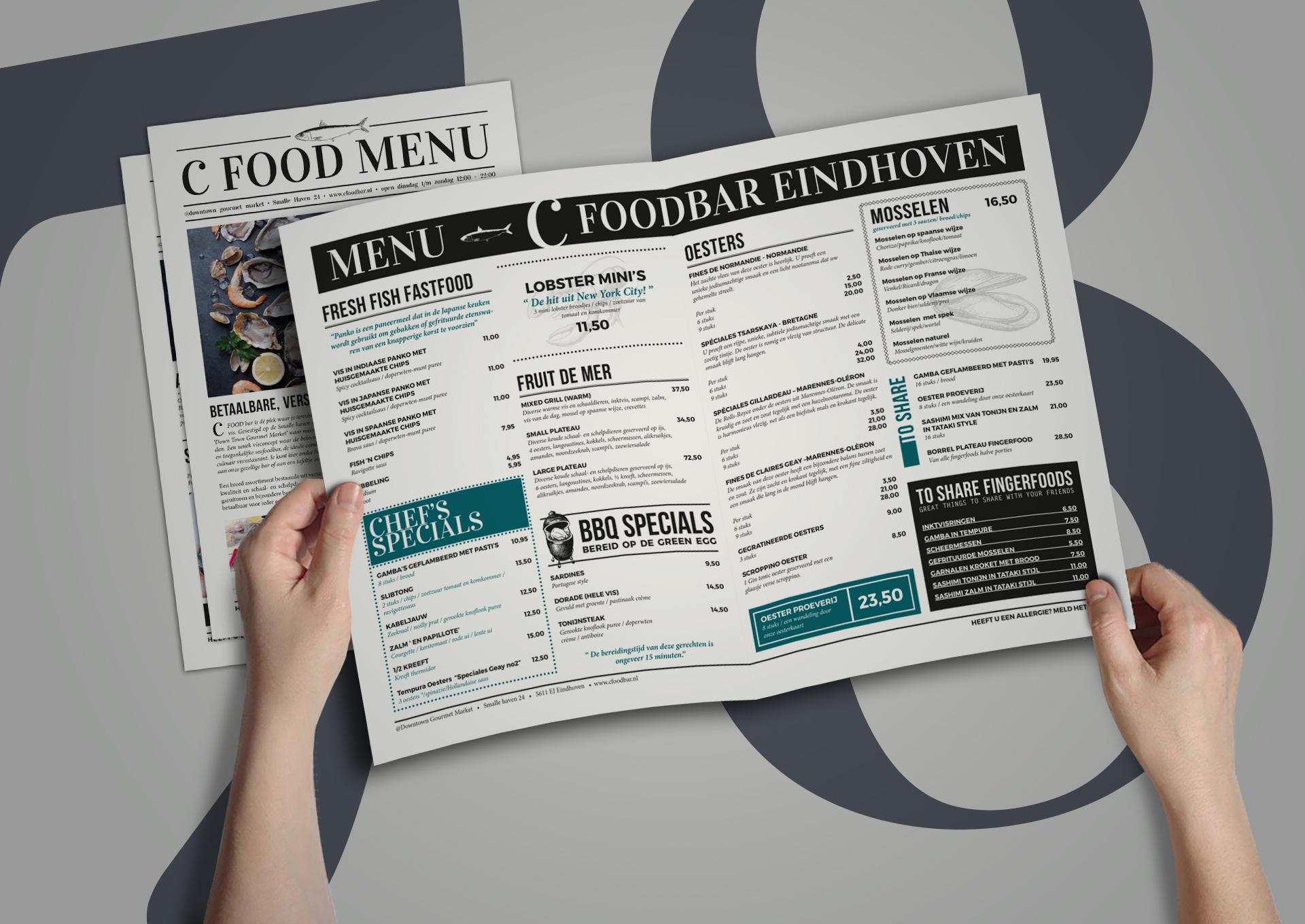 menu ontwerp